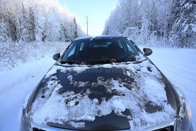 Voyage par la route d'hiver photos libres de droits