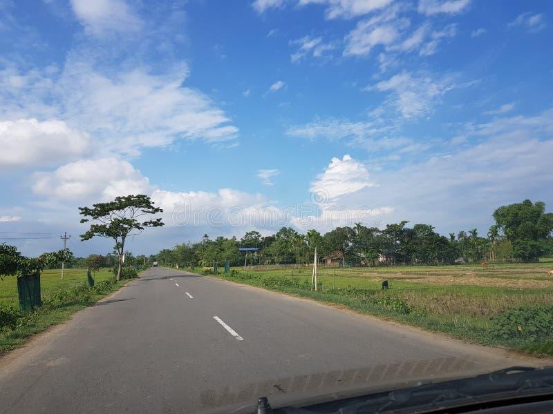 Voyage par la route dans Assam photo stock