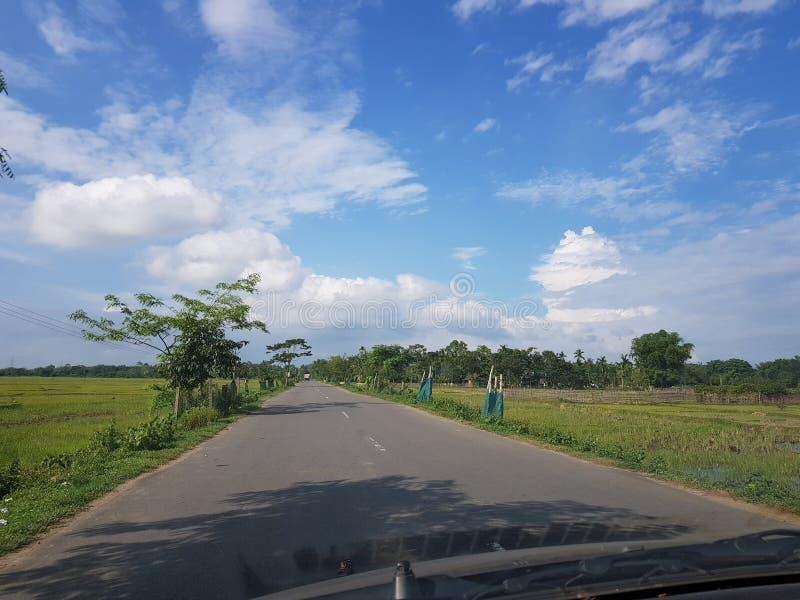 Voyage par la route dans Assam photos stock