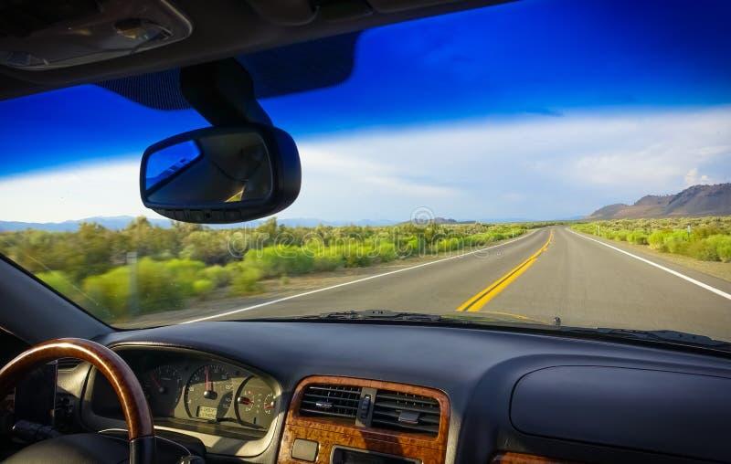 Voyage par la route par la sierra orientale, la Californie image stock