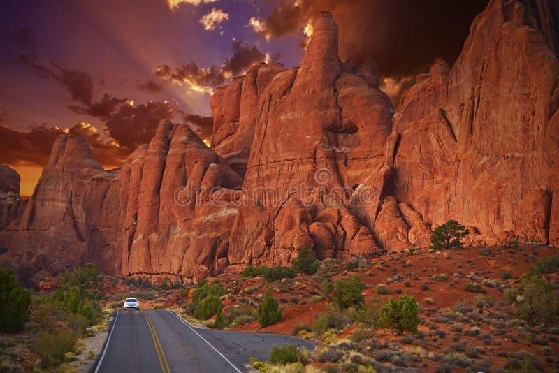 Voyage par la route scénique de l'Utah photographie stock