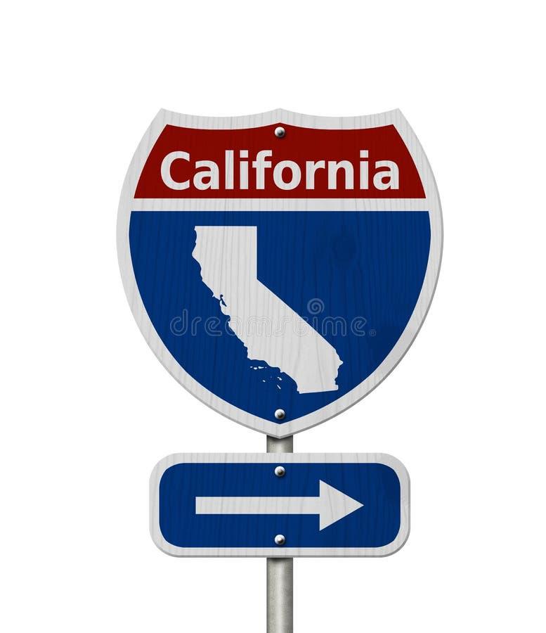 Voyage par la route vers la Californie avec le fond blanc illustration libre de droits