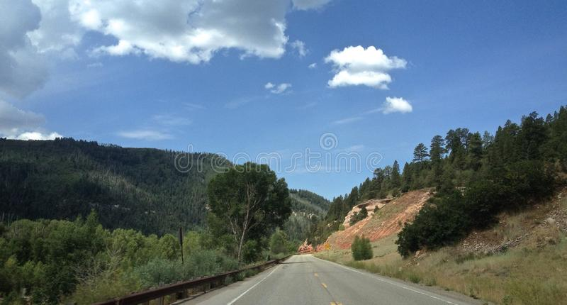 Voyage par la route vers le Colorado image libre de droits