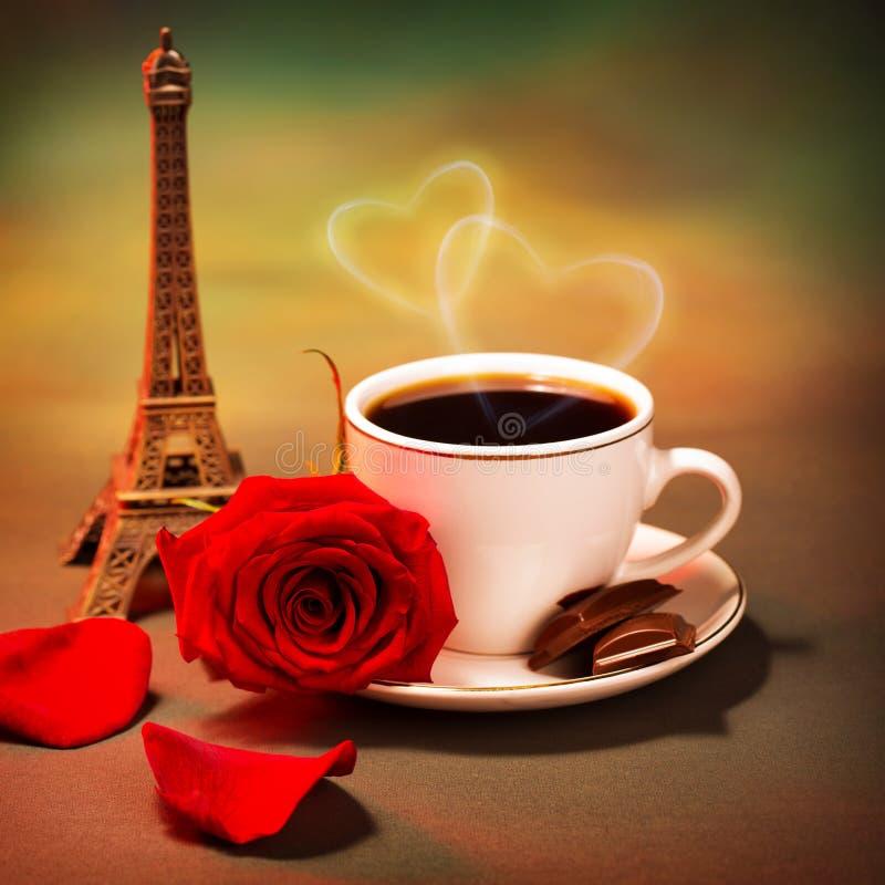 Voyage romantique vers la France photo stock