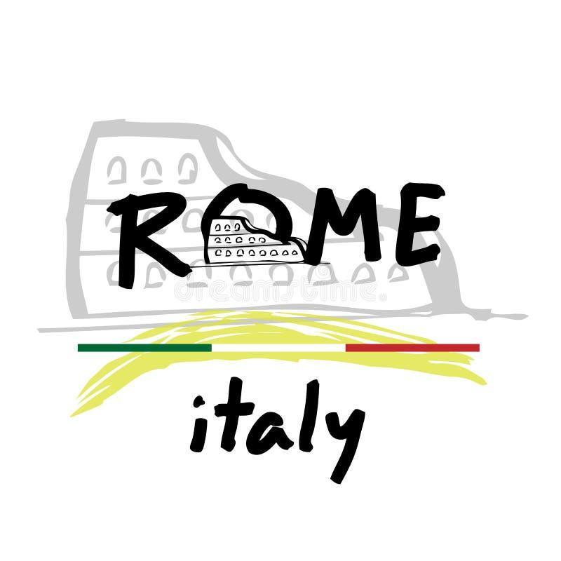Voyage Rome Italie illustration de vecteur