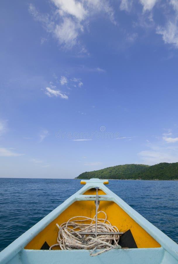 Voyage sur un bateau image libre de droits