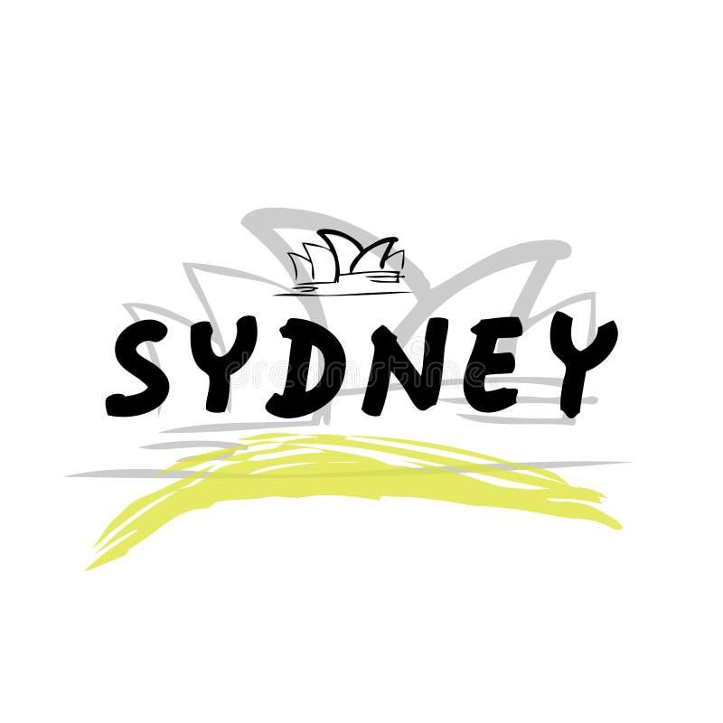 Voyage Sydney illustration stock