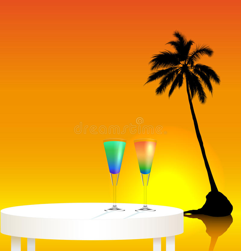 Voyage tropical illustration stock