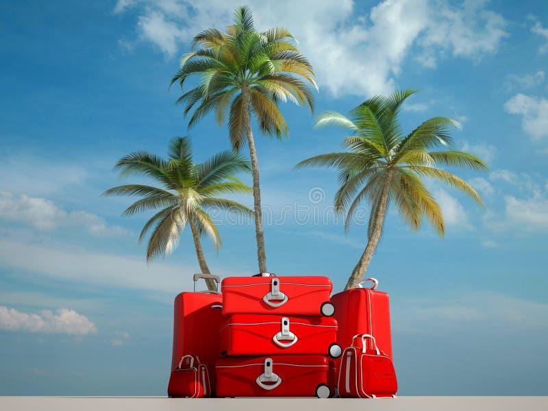 Voyage tropical rouge images libres de droits