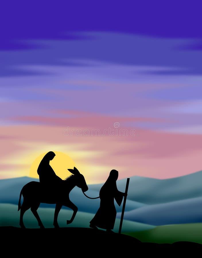 Voyage vers Bethlehem illustration libre de droits