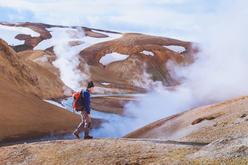 Voyage vers l'Islande, tourisme actif photo libre de droits