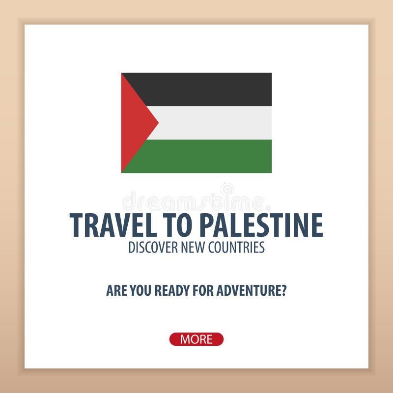Voyage vers la Palestine Découvrez et explorez les nouveaux pays Voyage d'aventure illustration de vecteur
