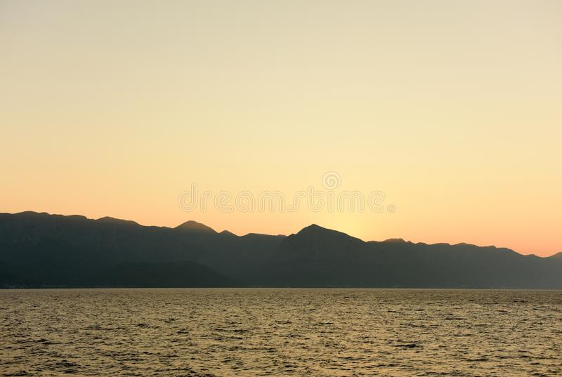 Voyage vers les îles croates photo stock