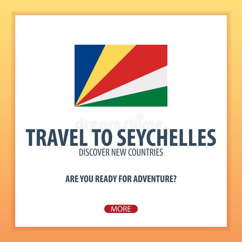 Voyage vers les Seychelles Découvrez et explorez les nouveaux pays Voyage d'aventure illustration stock