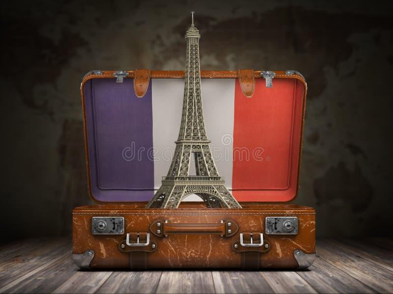 Voyage vers Paris Voyage ou tourisme au concept de Frances Tour Eiffel illustration stock