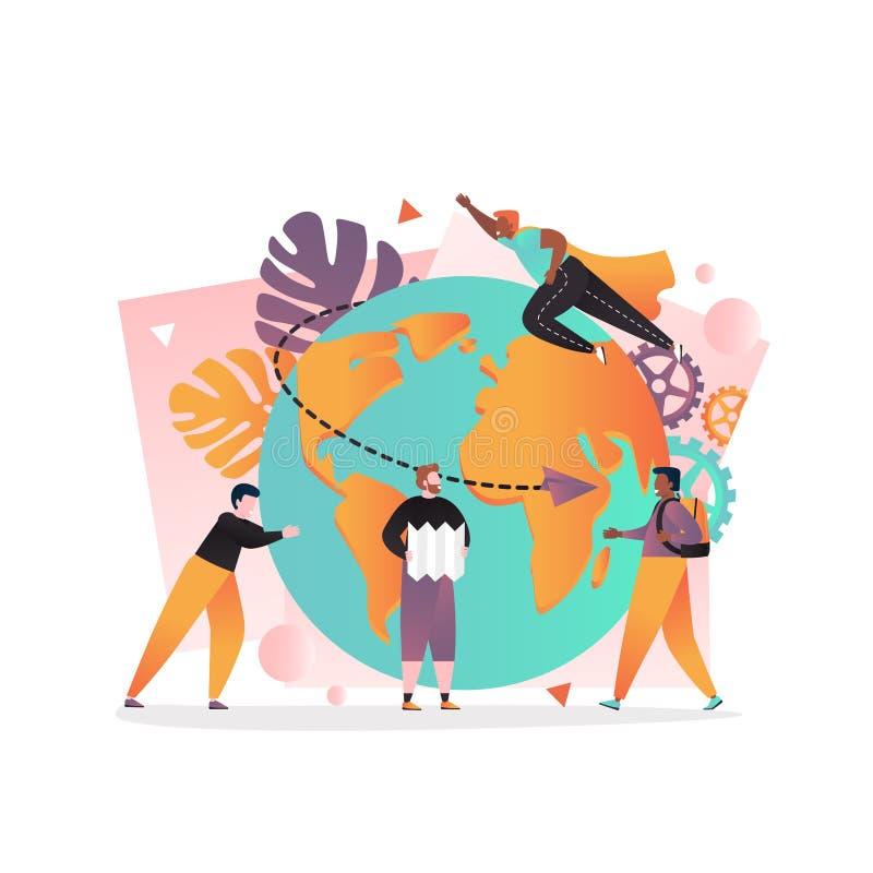 Voyagent le concept de vecteur du monde pour la bannière de Web, page de site Web illustration libre de droits