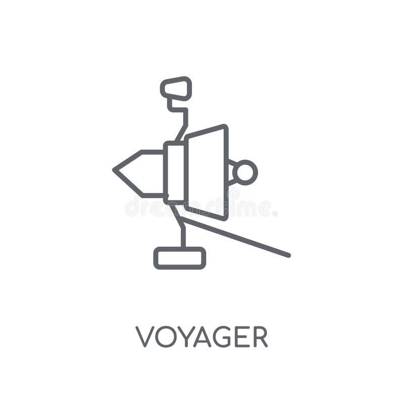 Voyager liniowa ikona Nowożytny konturu Voyager logo pojęcie na whit ilustracji