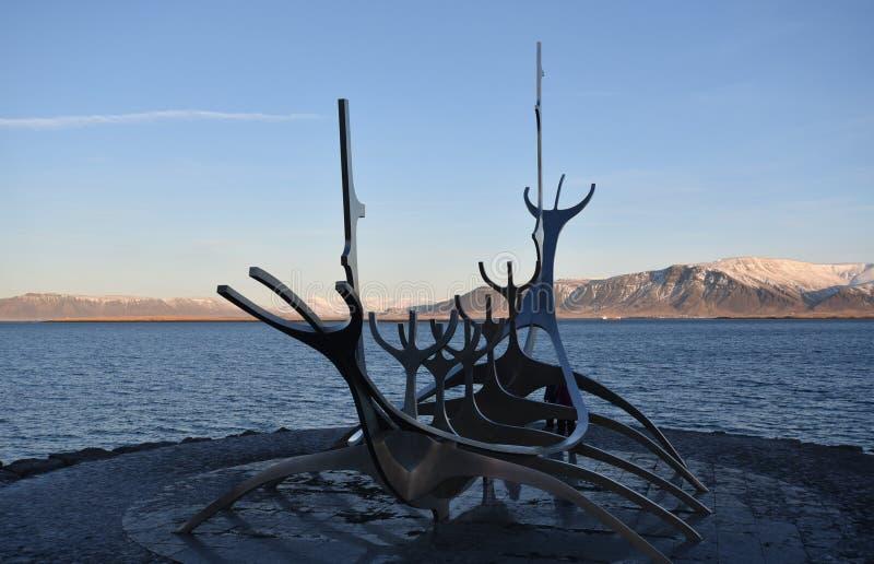 Voyager Reykjavik Солнця, Исландия стоковое изображение