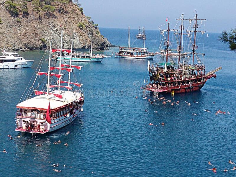 Voyages inoubliables de bateau photo libre de droits