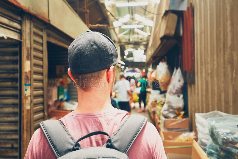 Voyageur en Asie image libre de droits