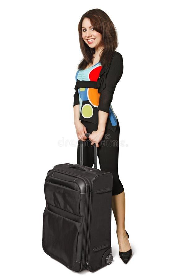 voyageur heureux féminin images stock