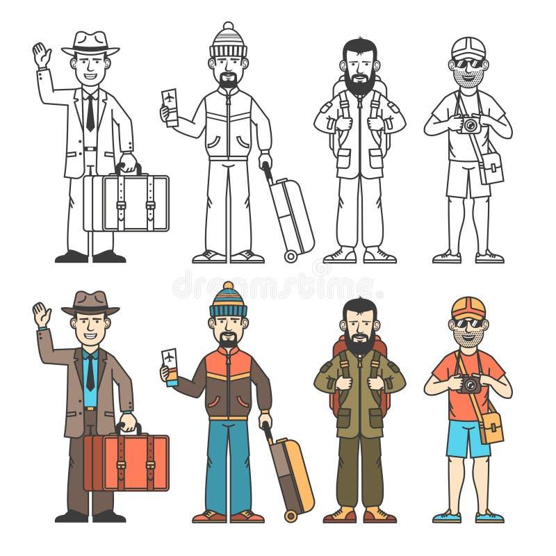 Voyageur moderne illustration libre de droits