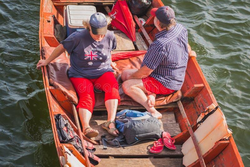 Voyageurs australiens en Asie photo stock