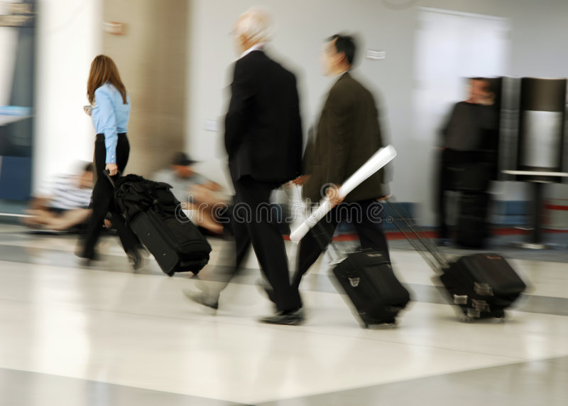 Voyageurs d'air photo stock