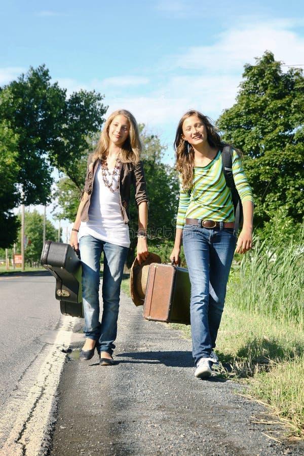 Voyageurs de l'adolescence images stock