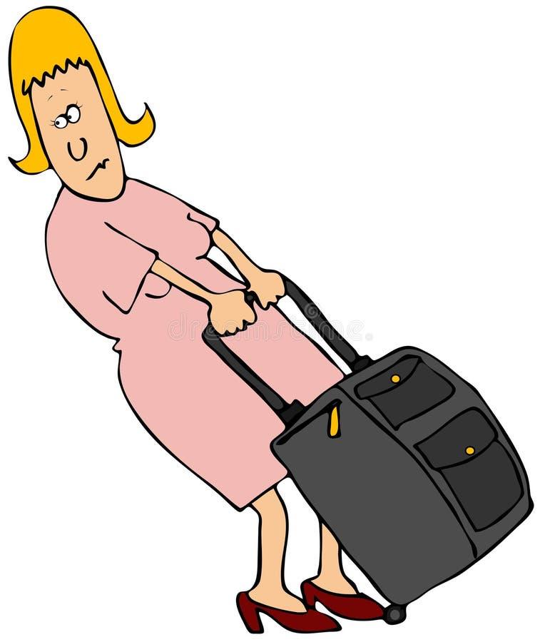 Voyageuse de femme illustration stock