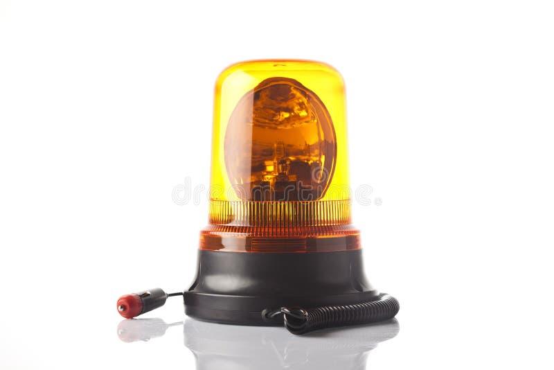 Voyant d'alarme jaune image libre de droits