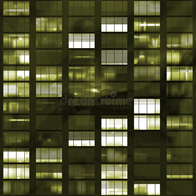 Voyeuring Office Building After Dark royalty free stock image