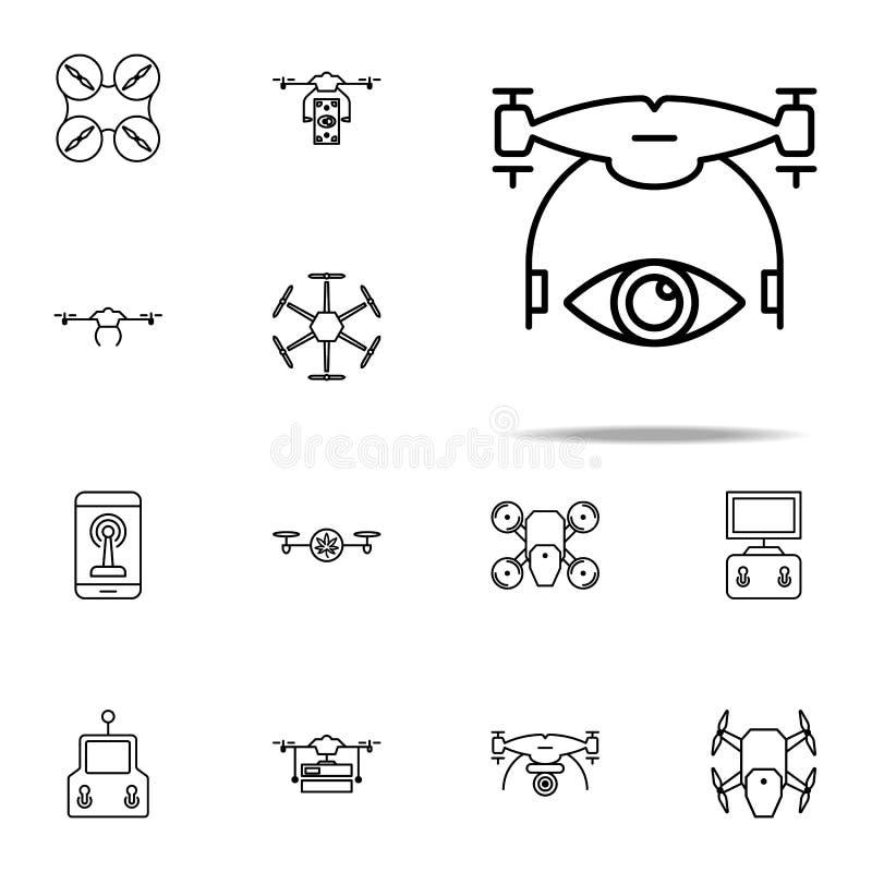 voyez l'icône de bourdon Ensemble universel d'icônes de bourdons pour le Web et le mobile illustration stock
