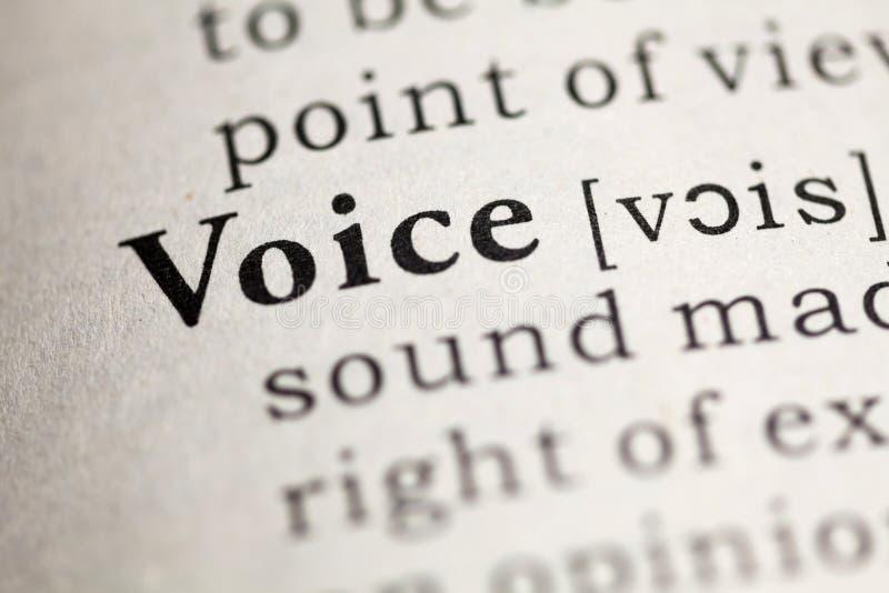voz imagen de archivo
