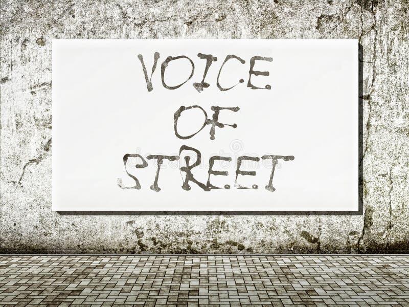 Voz da rua, palavras na parede foto de stock