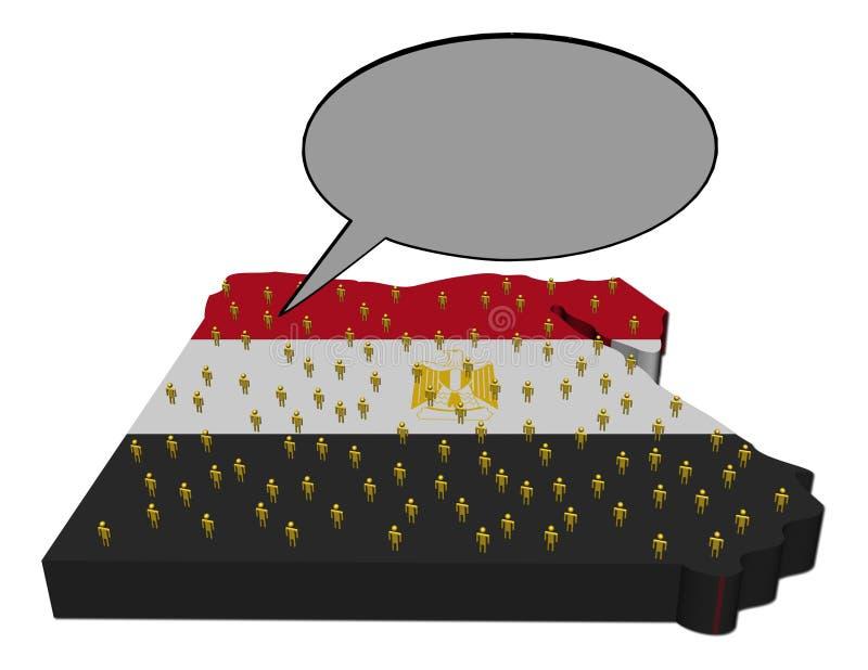 Voz de la población egipcia en indicador de la correspondencia stock de ilustración