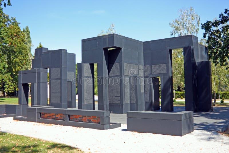 Voz de víctimas croatas, monumento foto de archivo