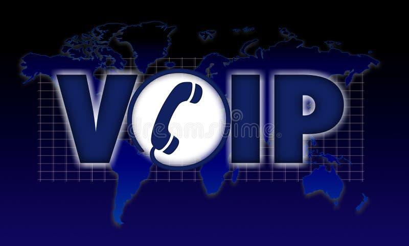 Voz de VOIP sobre o Internet Protocol ilustração royalty free