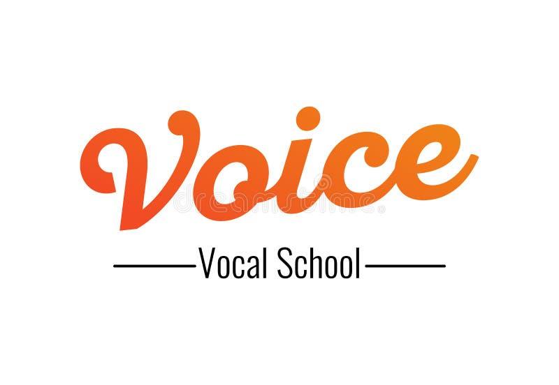Voz - logotipo para la escuela vocal, ejemplo del vector en el fondo transparente blanco ilustración del vector