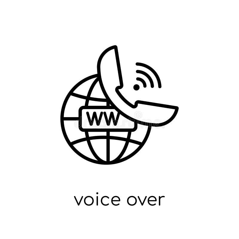 voz sobre icono del Internet Protocol Vec linear plano moderno de moda libre illustration