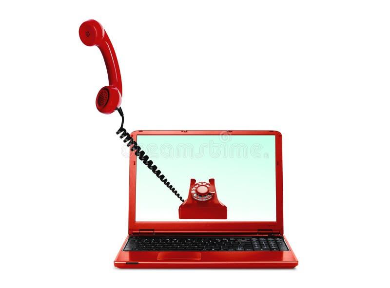 Voz sobre Internet VoIP ilustración del vector
