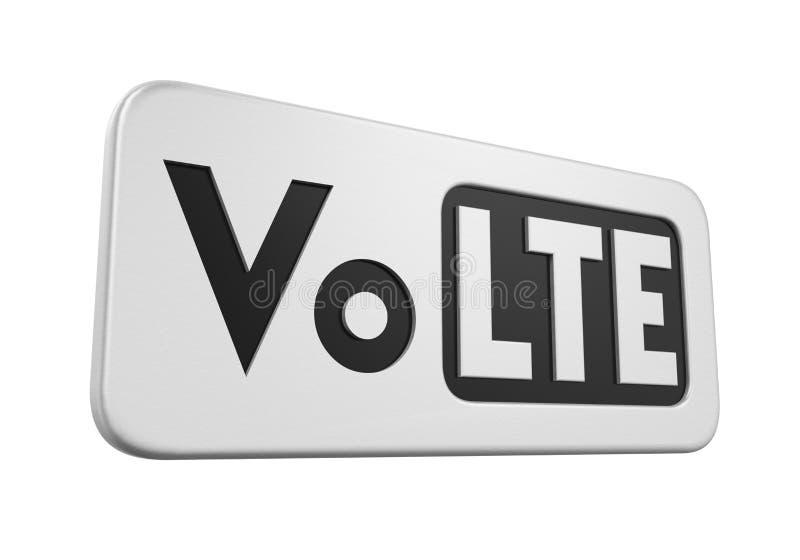 Voz sobre la muestra de LTE aislada ilustración del vector