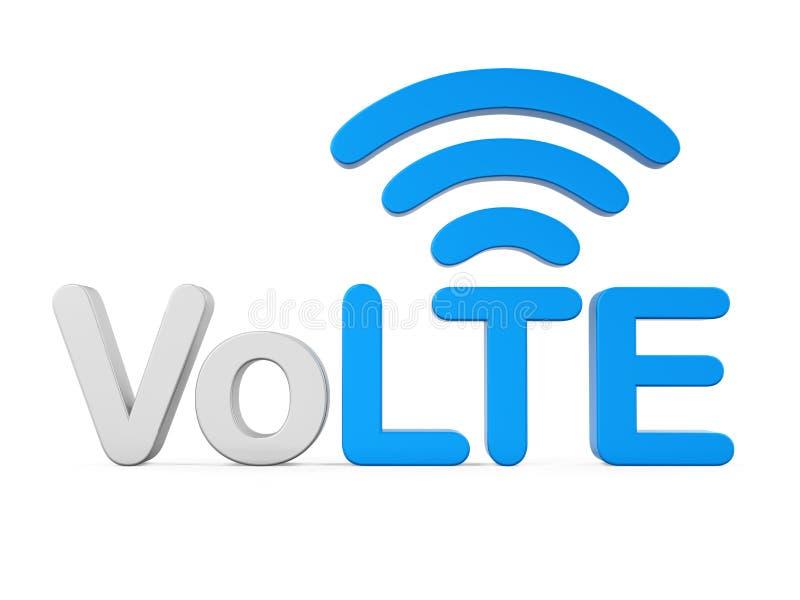 Voz sobre la muestra de LTE aislada stock de ilustración