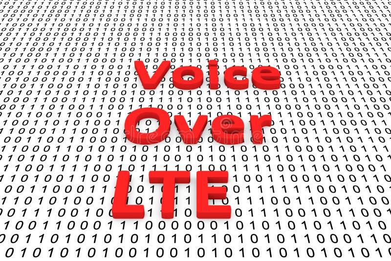 Voz sobre LTE ilustración del vector