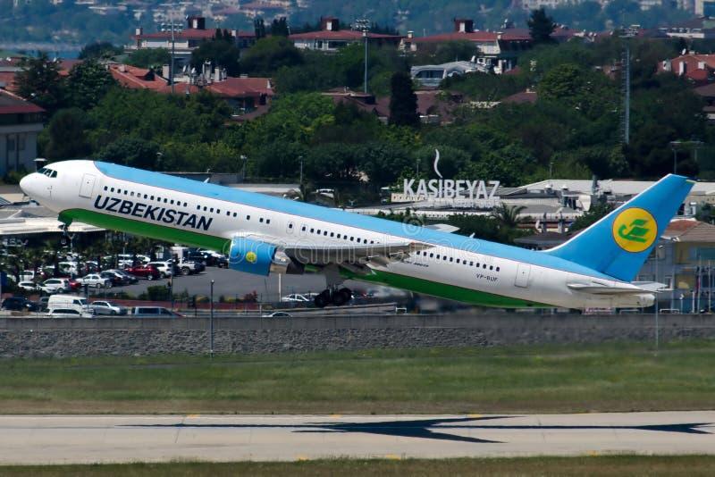 VP-BUF Uzbekistan Airways Boeing 767-33P photo stock