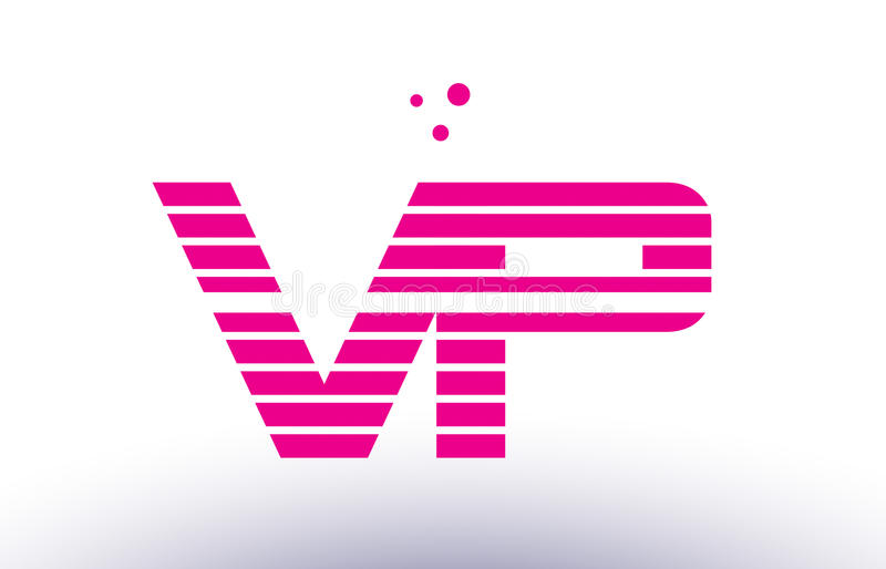 Download Vp V P Pink Purple Line Stripe Alphabet Letter Logo Vector Templ Stock