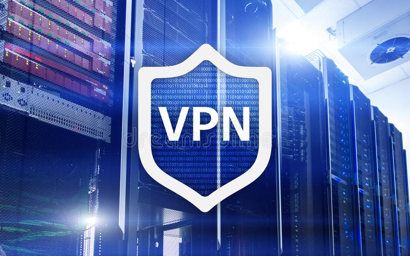 VPN, технология виртуальной частной сети, полномочие и ssl, безопасность кибер стоковое фото