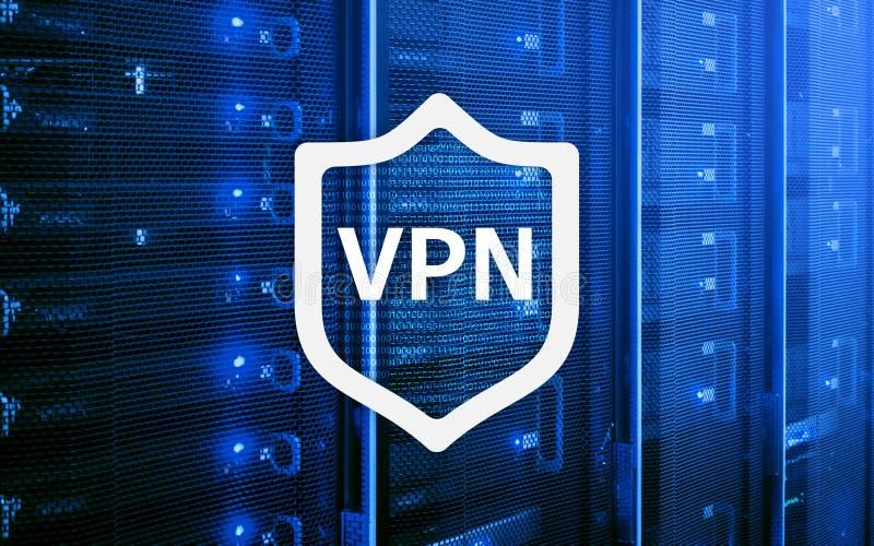 VPN, технология виртуальной частной сети, полномочие и ssl, безопасность кибер иллюстрация вектора