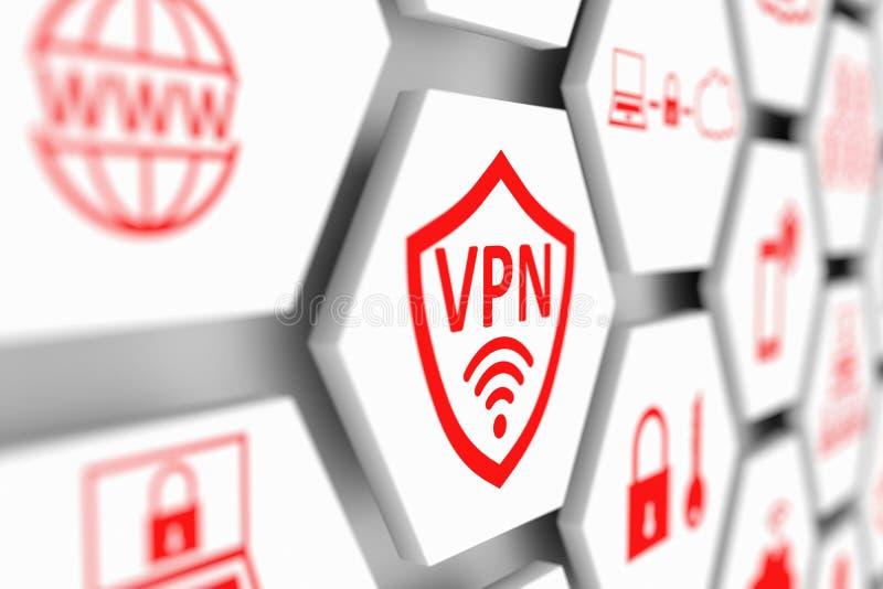 VPN begrepp stock illustrationer