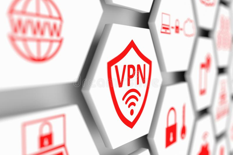 VPN concept stock illustration